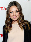 Mila Kunis smiled at the camera in Las Vegas.