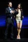 James Franco and Mila Kunis enjoyed the stage at CinemaCon.
