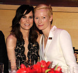 Kristen Wiig and Tilda Swinton posed together at the Time 100 gala in NYC.