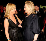 Amy Poehler and Hillary Clinton chatted at the Time 100 gala in NYC.