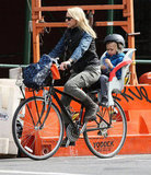 Naomi Watts and Sasha Schreiber took to the outdoors for a bike ride through NYC.