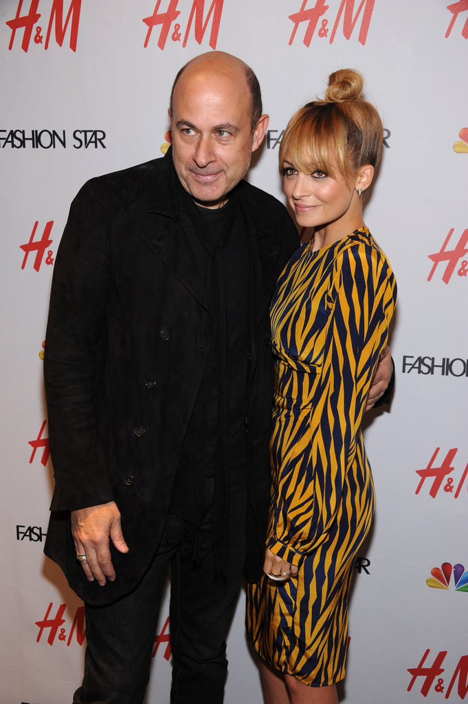 Nicole Richie and John Varvatos posed together at a bash.