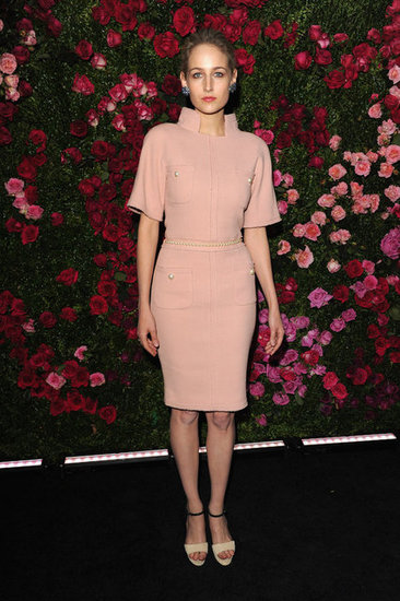 Leelee Sobieski appropriately wore Chanel to the Chanel dinner party at the 2012 Tribeca Film Festival.