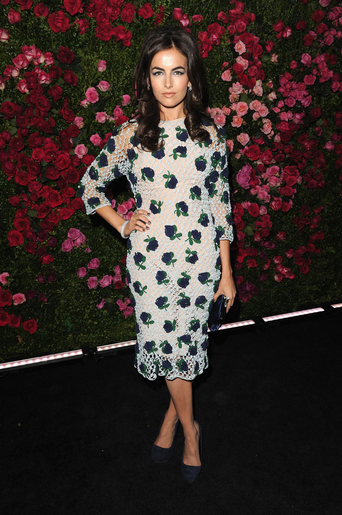 Camilla Belle wore a floral print dress to the Chanel dinner party at the 2012 Tribeca Film Festival.