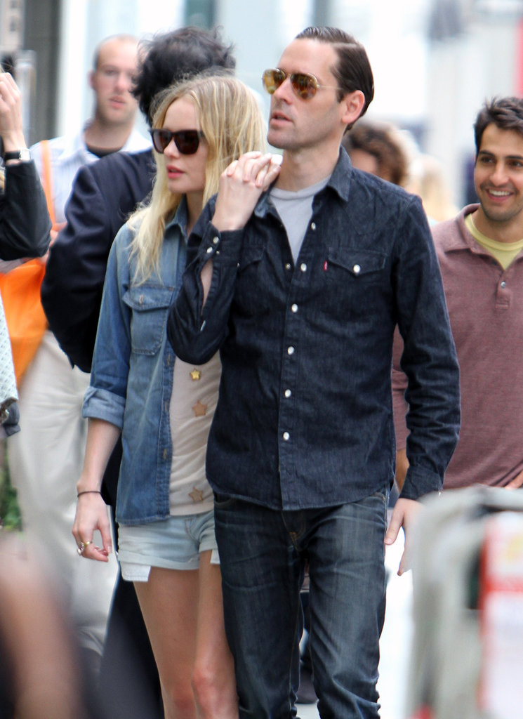 Michael Polish led the way as he and Kate Bosworth took a stroll through LA.