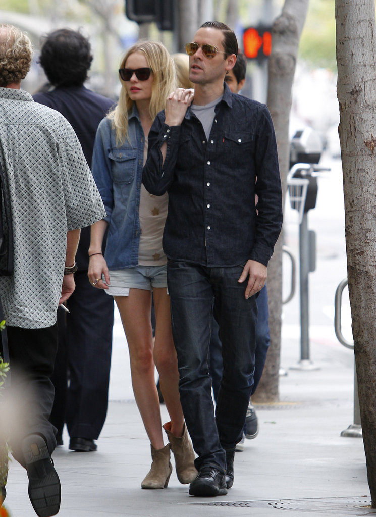 Kate Bosworth and boyfriend Michael Polish had a lunch date in LA.