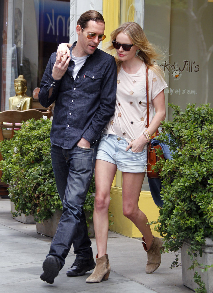 Kate Bosworth and Michael Polish stopped for lunch at Jack n' Jill's in LA.