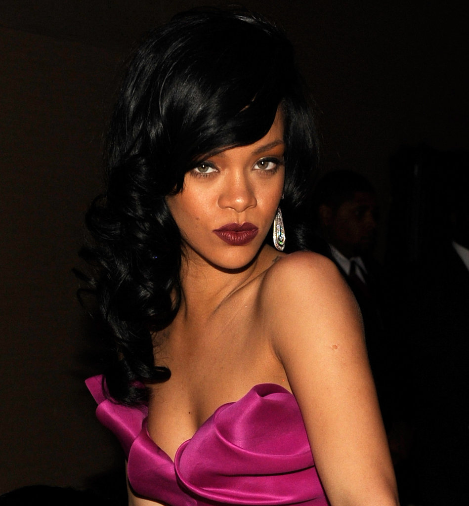 Rihanna posed at the Time 100 gala in NYC.