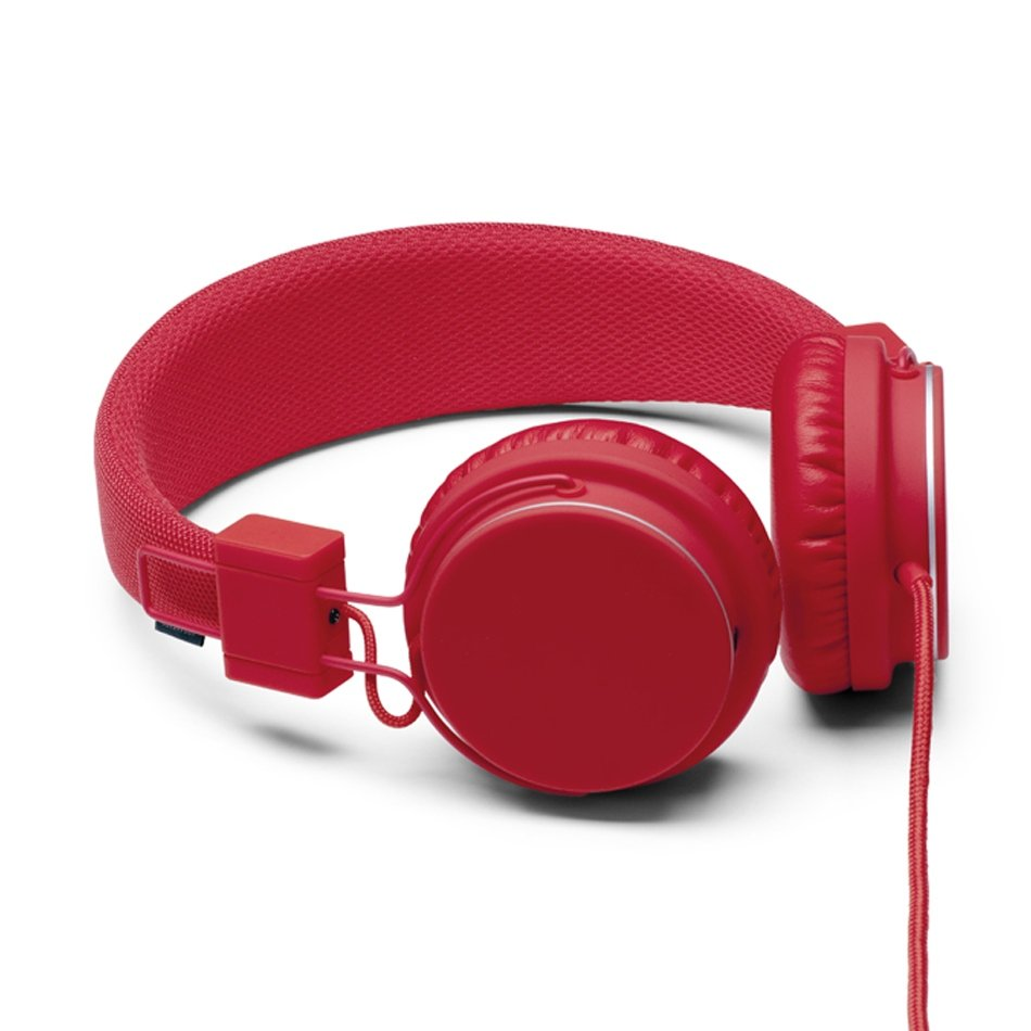 A bright jolt of tomato red made in a minimal and modern design.  UrbanEars Tomato Plattan Headphones ($60)