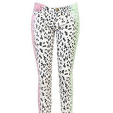 Cheryl Cole's Current/Elliott Stiletto Neon Leopard Print Jeans