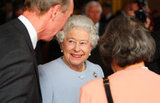 The Queen smiled at the reception at Windsor Castle.