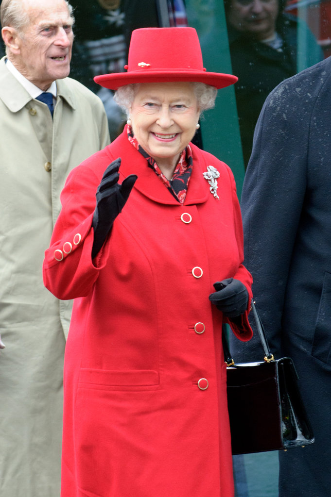 The Queen waved to the crowds.