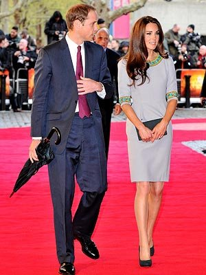 The Duke And Duchess Of Cambridge Attend African Cats - UK Premiere in Aid of Tusk at BFI Southbank on April 25, 2012 in London