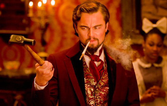 Leonardo DiCaprio as Calvin Candie in Django Unchained. Photos courtesy of The Weinstein Co.