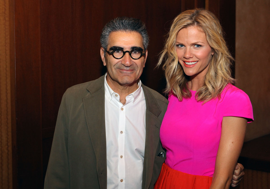 Brooklyn Decker smiled with Eugene Levy at CinemaCon in Las Vegas.