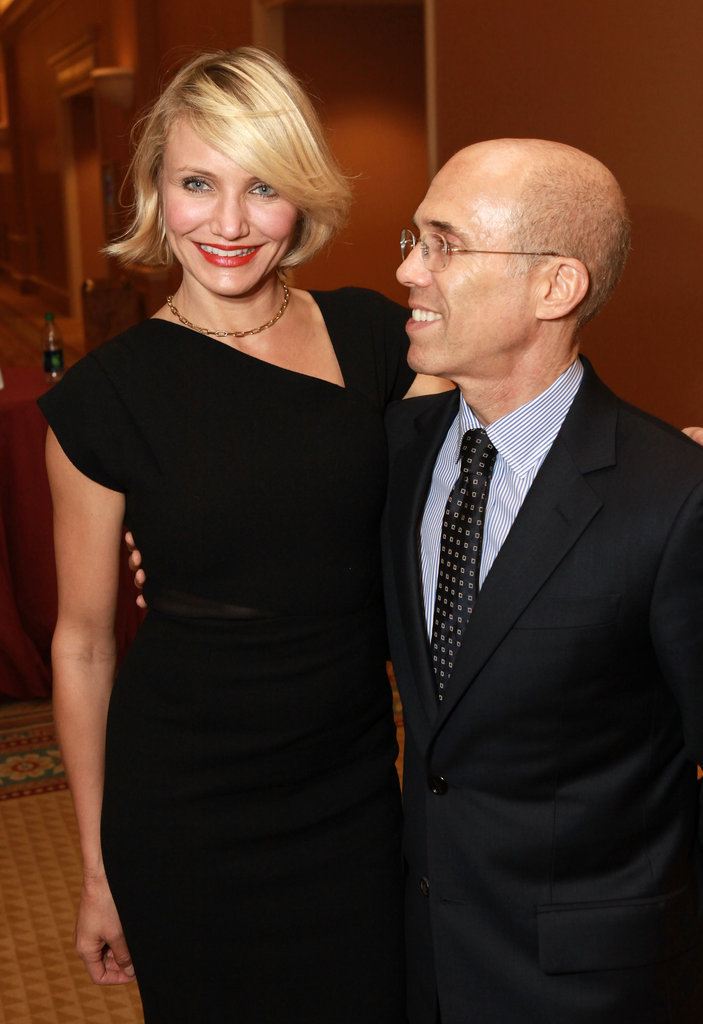 Cameron Diaz got together with Jeffrey Katzenberg at a dinner in his honor at CinemaCon in Las Vegas.