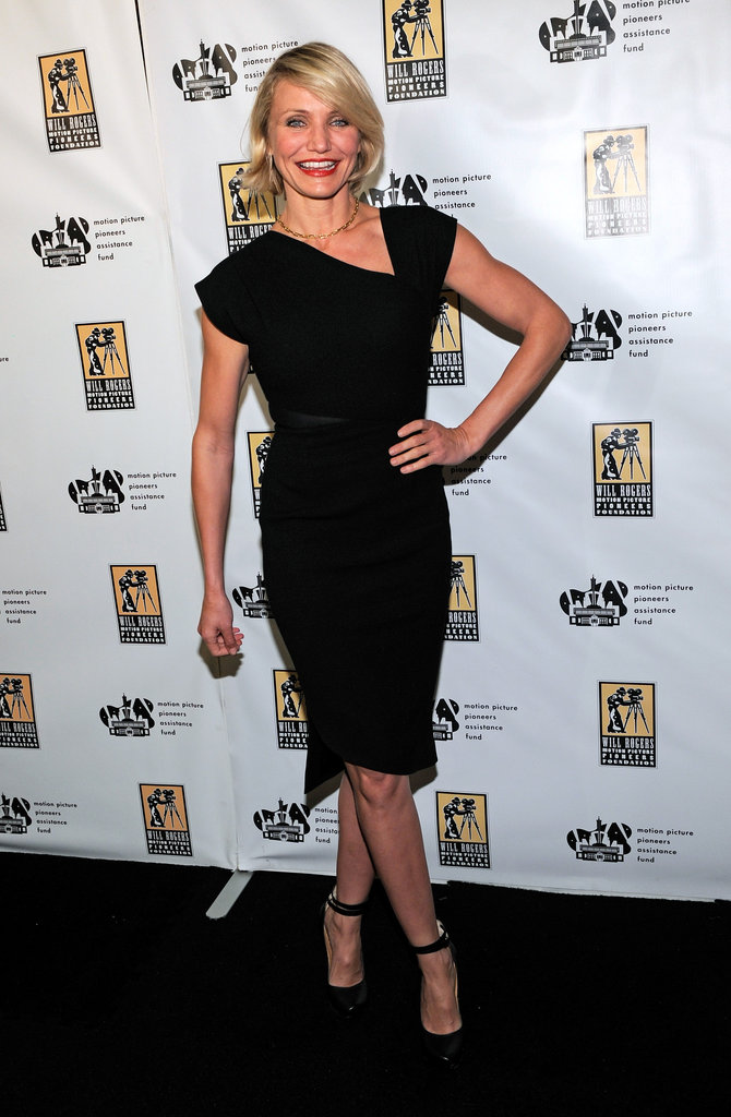 Cameron Diaz wore an LBD to CinemaCon in Las Vegas.