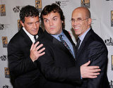 Antonio Banderas, Jack Black, and Jeffrey Katzenberg had fun together at CinemaCon in Las Vegas.