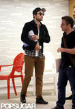 Robert Pattinson left a meeting in LA.