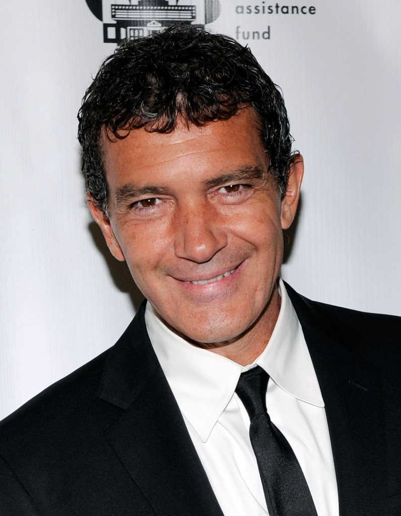 Antonio Banderas gave a big smile at CinemaCon in Las Vegas.