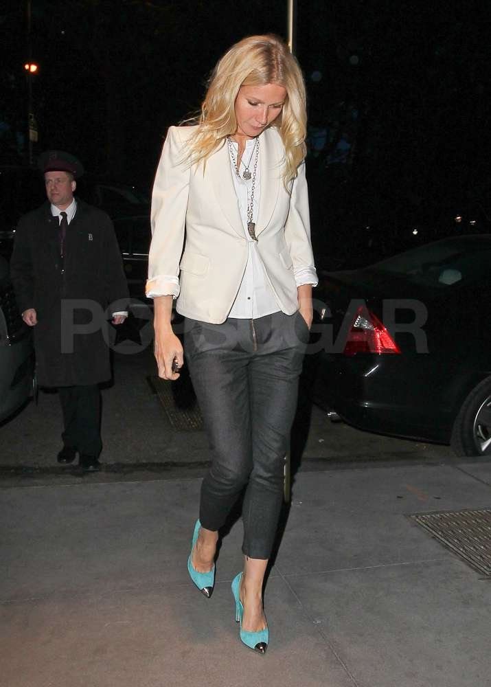 Gwyneth Paltrow wore a white blazer out in NYC.