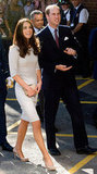 Kate was by Prince William's side in September 2011 in an Amanda Wakeley dress and LK Bennett pumps when they officially opened the new Oak Center For Children and Young People at England's Royal Marsden Hospital.