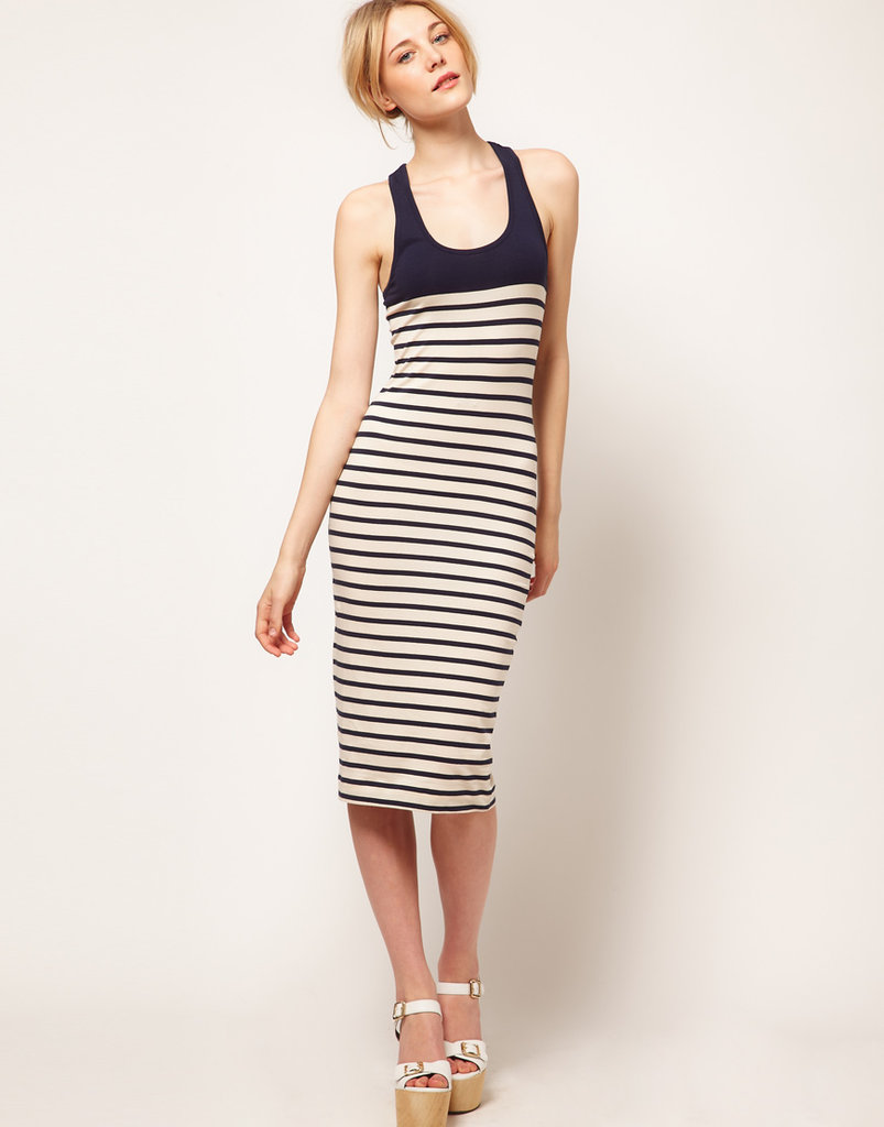 We'd wear these staple stripes with our favorite wedges for effortless Summer style.  French Connection Stripe Tank Dress ($85)