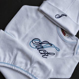 To Be Stitched Monogrammed Layette Set