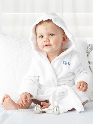 For a Baby Boy: Ralph Lauren Hooded Terry Robe