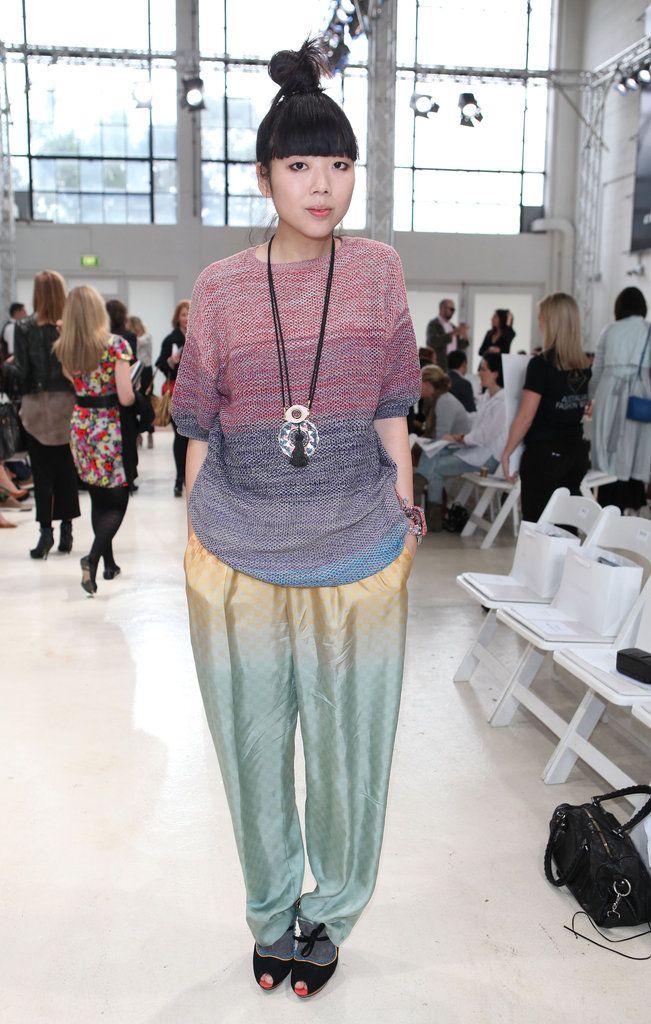 Fashion blogger Susie Bubble wore a colourful ensemble to Zimmermann in 2011.