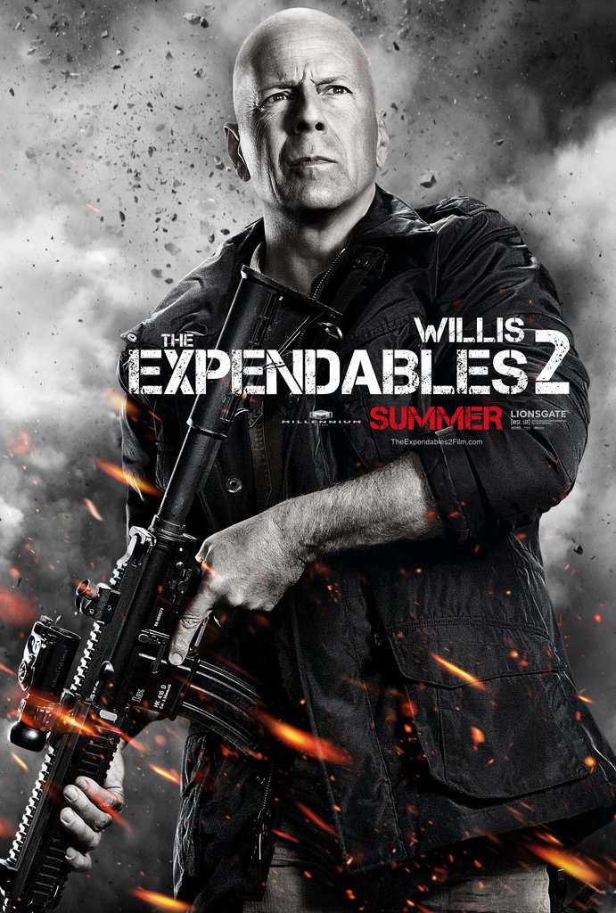 Bruce Willis as Church in The Expendables 2.