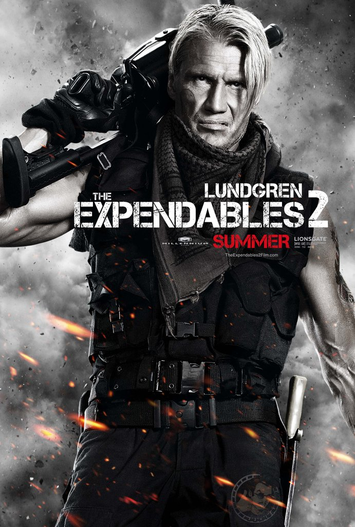 Dolph Lundgren as Gunnar Jensen in The Expendables 2.