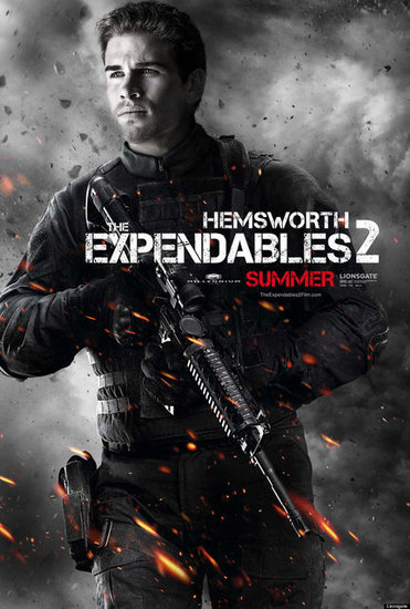 "Liam Hemsworth as Bill ""The Kid"" Timmons in The Expendables 2."