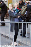 Emma Stone enjoyed spending time with a little friend in NYC.