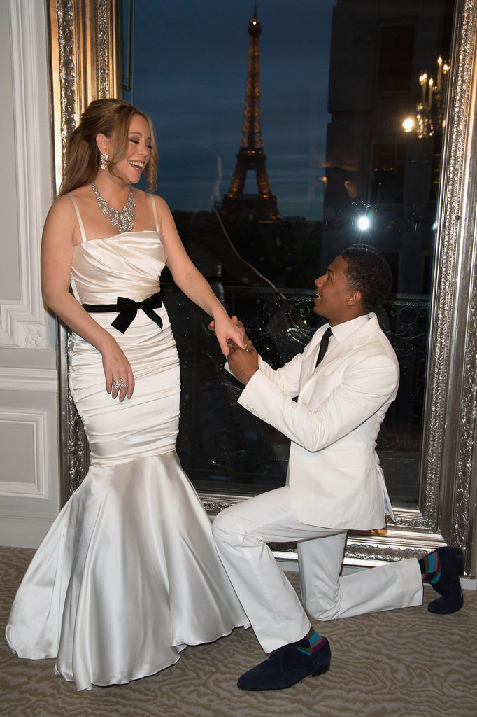 Mariah Carey joked with her husband, Nick Cannon.