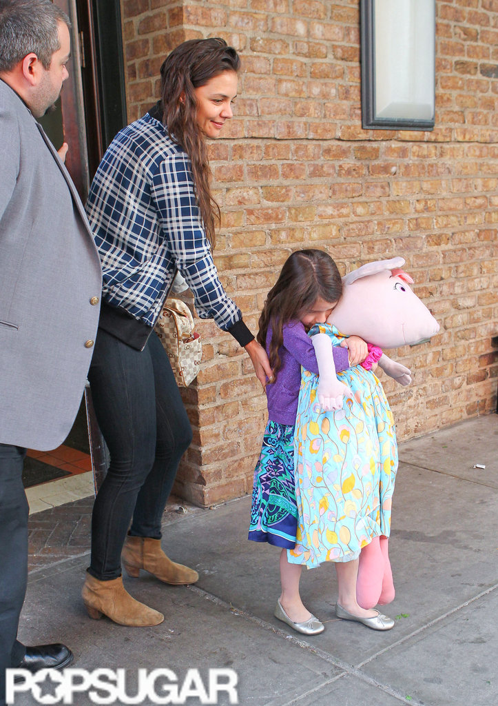 Katie Holmes and Suri Cruise Spend the Day With a Familiar Character