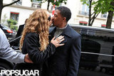 Mariah Carey and Nick Cannon shared a sweet kiss before stepping inside Dior's baby boutique in Paris in April 2012.
