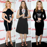 """Jennifer Garner Jokes About Her """"Weird Job"""" and Joins Charlize in Hot LBDs For CinemaCon"""