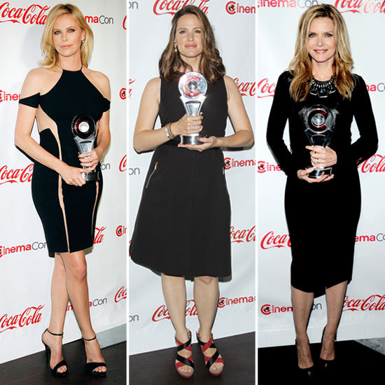 "Jennifer Garner Jokes About Her ""Weird Job"" and Joins Charlize in Hot LBDs For CinemaCon"