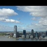 Space shuttle Enterprise over New York City.  Source: Instagram User magnels