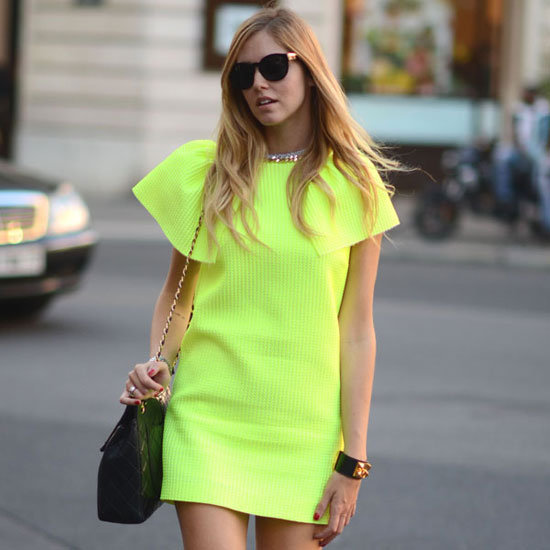 "These neon-infused street stylers inspire us to try out Spring's coolest hues. All together now, ""pigment power""!"