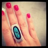 Feeling a little tribal inspired? We channeled the trend with this awesome turquoise ring.