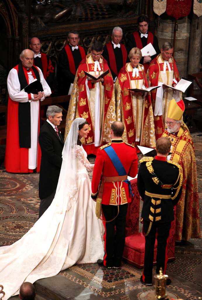 Prince William and Kate Middleton looked content on their wedding day.