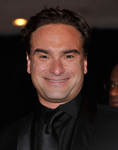 Johnny Galecki wore all= black to the White House Correspondant's Dinner.