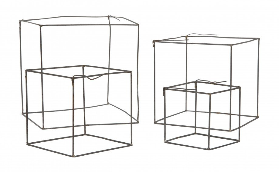 This Wire Cube Set ($30) is only a few inches tall and would add sculptural interest to a desk or bookshelf.
