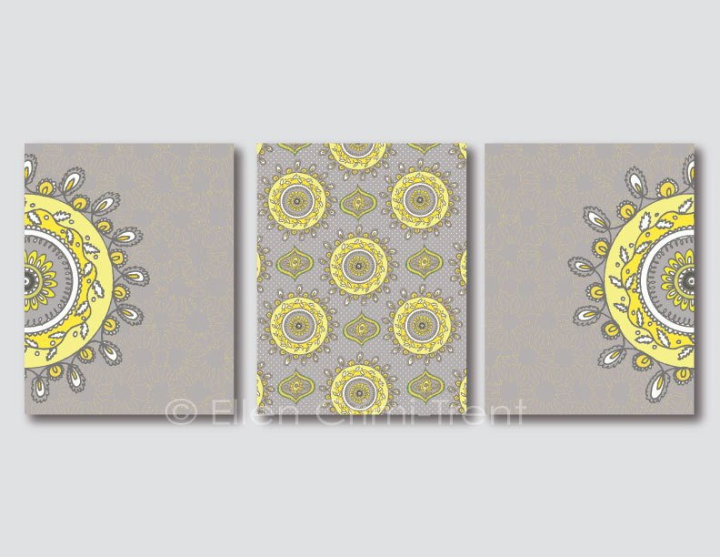 This Art Print Set ($50) comes in a lovely color pairing of gray and yellow.