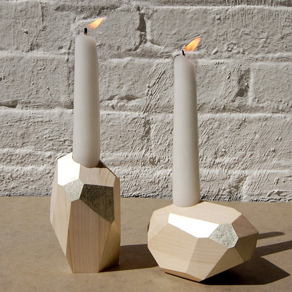 Or, if you prefer, try the Dorit Candleholders ($150) in white gold.