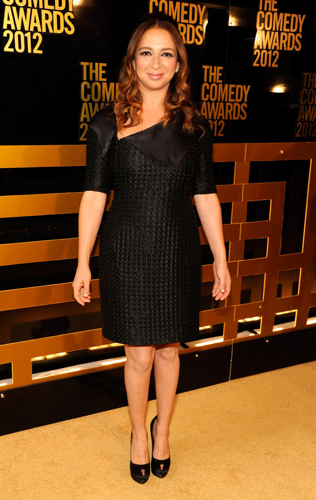 Maya Rudolph wore a black dress to the Comedy Awards in NYC.