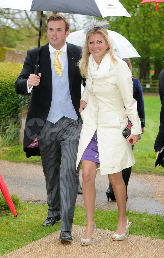Holly Branson arrived at Hannah Gillingham and Robert Carter's wedding in England.