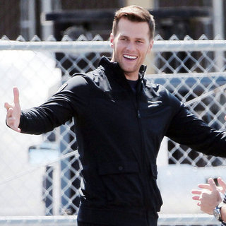 Tom Brady Pictures on the Set of Funny or Die Video